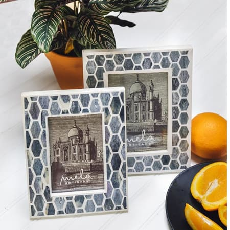 Gramercy Frame (4 x 6) in Grey & White (1) - AboutRuby.com