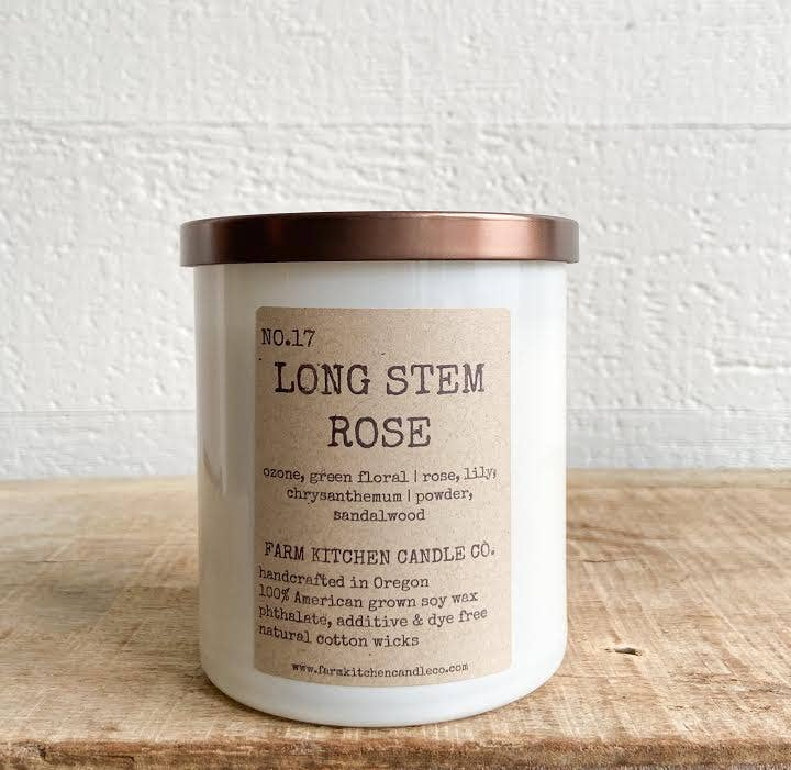Long Stem Rose Soy Candle - 8.5 oz. - AboutRuby.com