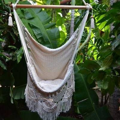 Handmade Hammock Chair with Macrame - AboutRuby.com