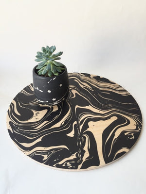 Marbled Printed Wood Trivet / Giant Coaster - AboutRuby.com