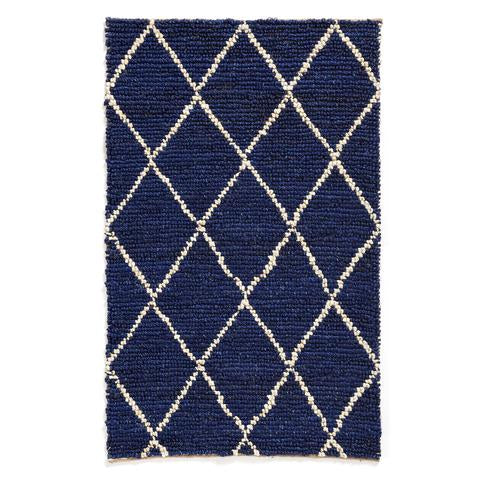 Navy and White Diamond Indoor/Outdoor Rug - AboutRuby.com