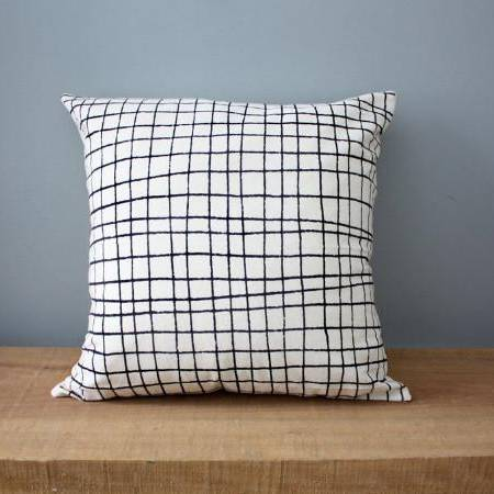Plaid | Organic Cotton Pillow - AboutRuby.com