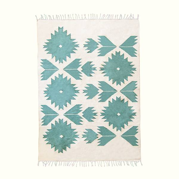 Teal Bustan Rug - AboutRuby.com