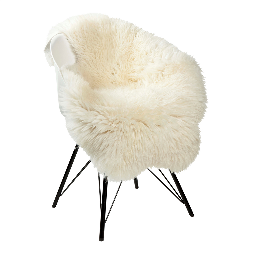 European Designer Sheepskin in White - AboutRuby.com