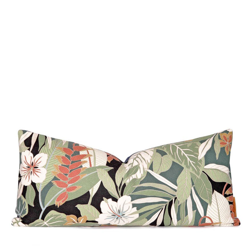 Boho Tropics | Tiki Tropical Lumbar Pillow - AboutRuby.com