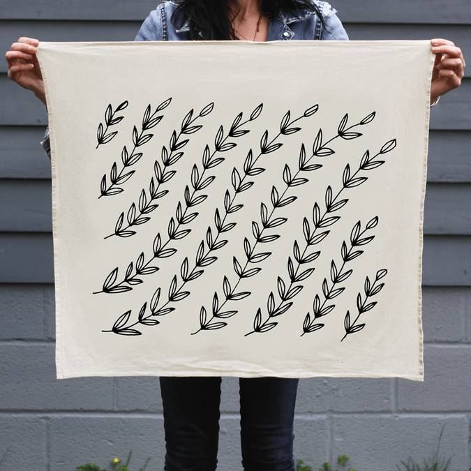 Vines | Organic Cotton Tea Towel - AboutRuby.com