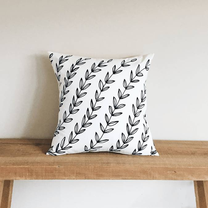 Vines | Organic Cotton Pillow - AboutRuby.com