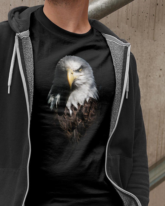 BEASTS ON BLACK \ BALD EAGLE - down-south-apparel-za