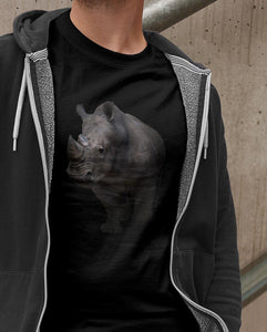 BEASTS ON BLACK \ RHINO - down-south-apparel-za