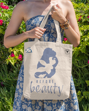 "Load image into Gallery viewer, ""ANIMALS BEFORE BEAUTY"" TOTE BAG \ BEAUTY WITHOUT CRUELTY - down-south-apparel-za"
