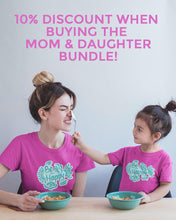 "Load image into Gallery viewer, ""BE HAPPY"" TEE'S FOR MOM AND DAUGHTER \ DIGITAL KAM - down-south-apparel-za"