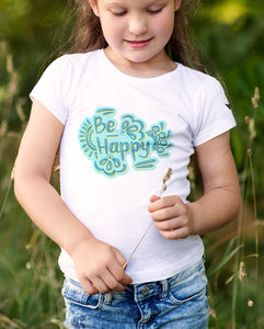 """BE HAPPY"" TEE'S FOR MOM AND DAUGHTER \ DIGITAL KAM - down-south-apparel-za"
