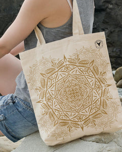 """ABUNDANCE"" MANDALA TOTE BAG \ DIGITAL KAM - down-south-apparel-za"