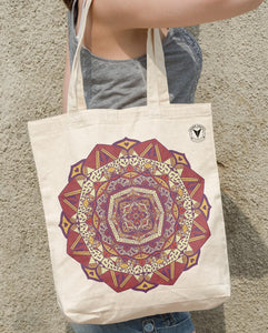 """DEEP LOVE"" MANDALA TOTE BAG \ DIGITAL KAM - down-south-apparel-za"