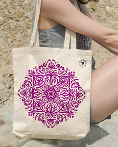 """YOUNG LOVE"" MANDALA TOTE BAG \ DIGITAL KAM - down-south-apparel-za"