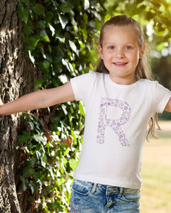 PURPLE FLOWER ALPHABET FOR GIRLS - down-south-apparel-za