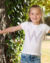 Load image into Gallery viewer, PURPLE FLOWER ALPHABET FOR GIRLS - down-south-apparel-za