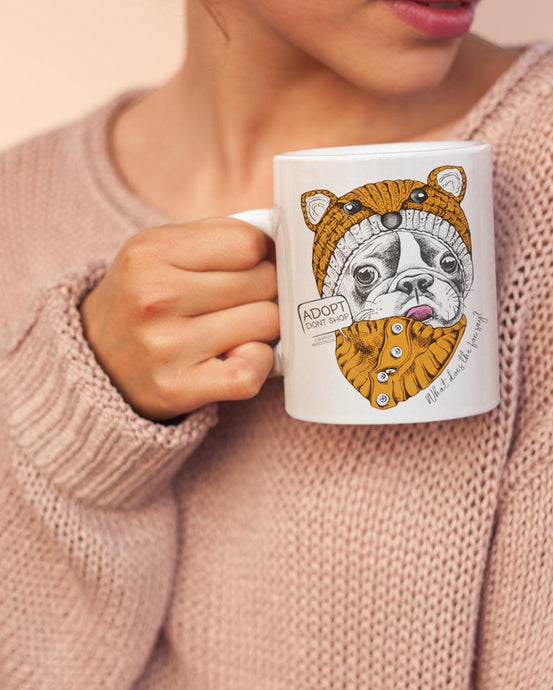 FOX FRENCHIE MUG \ ARRO - down-south-apparel-za