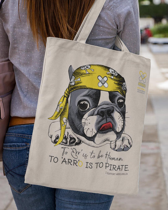 PIRATE FRENCHIE TOTE BAG \ ARRO - down-south-apparel-za