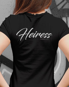 """HEIR"" & ""HEIRESS"" TEE'S FOR MEN AND WOMEN - down-south-apparel-za"
