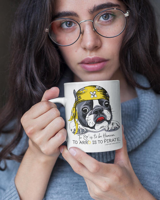 PIRATE FRENCHIE MUG \ ARRO - down-south-apparel-za