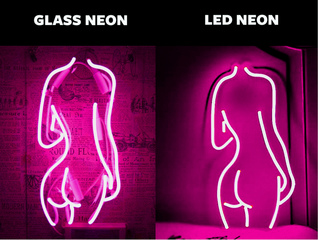 Led neon compared to glass neon
