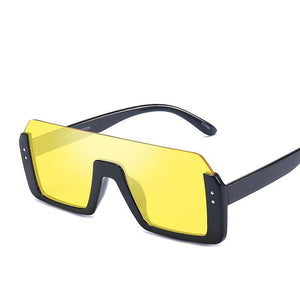 The 'Twirl shades' UV protect sunglasses come in 6 different colors:  Red, Blue, Yellow, Brown, Matte Black & Black.