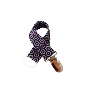 Shweshwe Dummy Clip - Purple