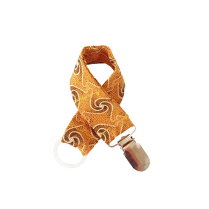Shweshwe Dummy Clip - Orange