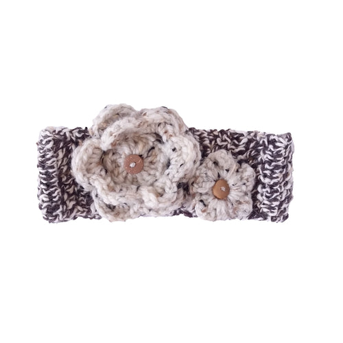 Baby Girl Crochet Headband - Speckled
