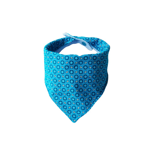 Dribble Bib - ShweShwe Blue