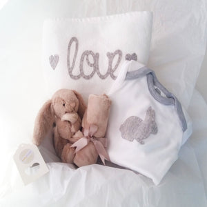 Cuddle Comfort Baby Gift Set - Beige Bunny Soother Love