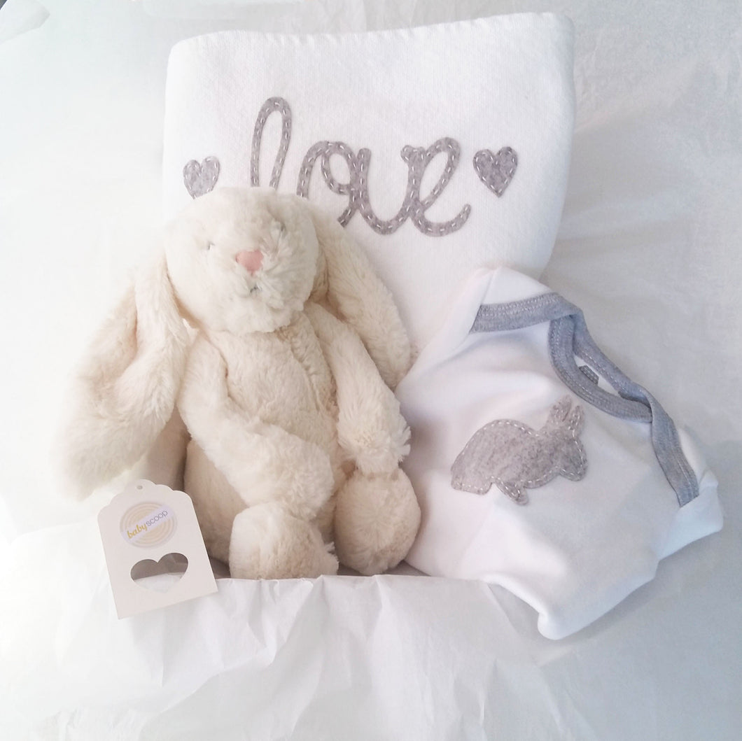 Cuddle Comfort Baby Gift Set - Cream Soft Bunny Love