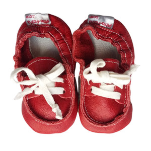 Genuine Leather Baby Shoes - Red