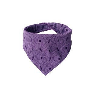 Dribble Bib - ShweShwe Purple