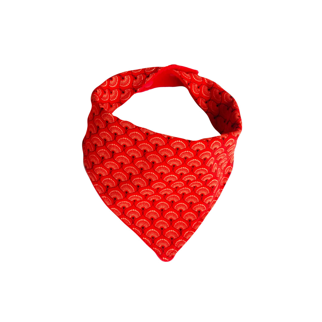 Dribble Bib - ShweShwe red