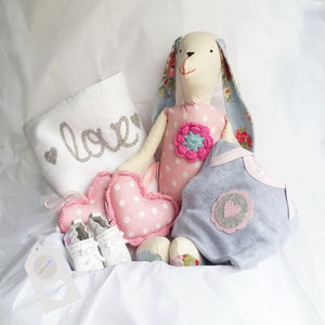 Baby Girl Gift Set - Pink Bunny Love