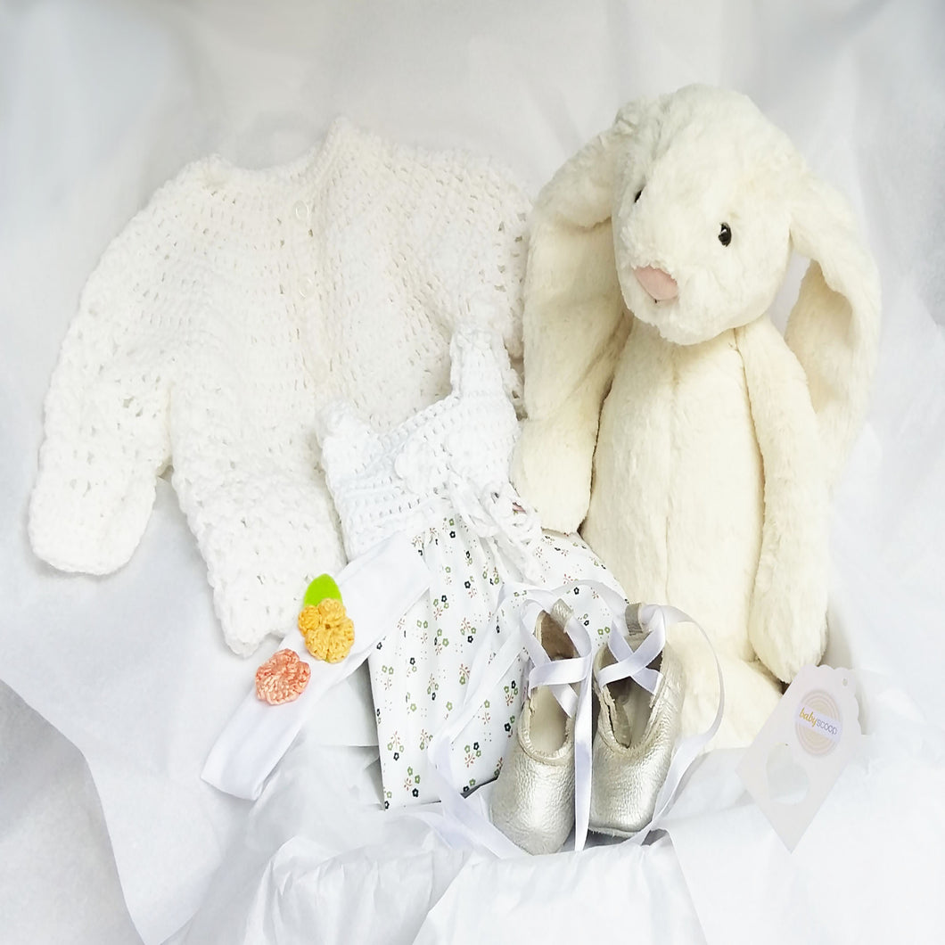 Baby Girl Spring Gift Set - White Florals