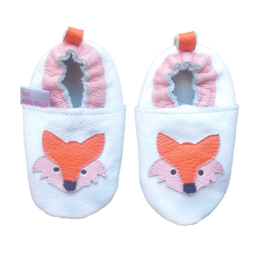 Genuine Leather Baby Girl Shoes - Fox