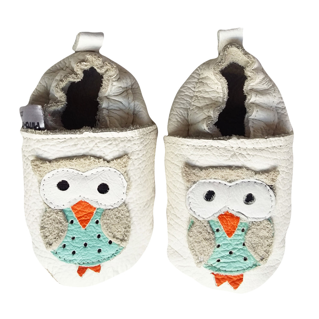 Genuine Leather Baby Shoes - Owl