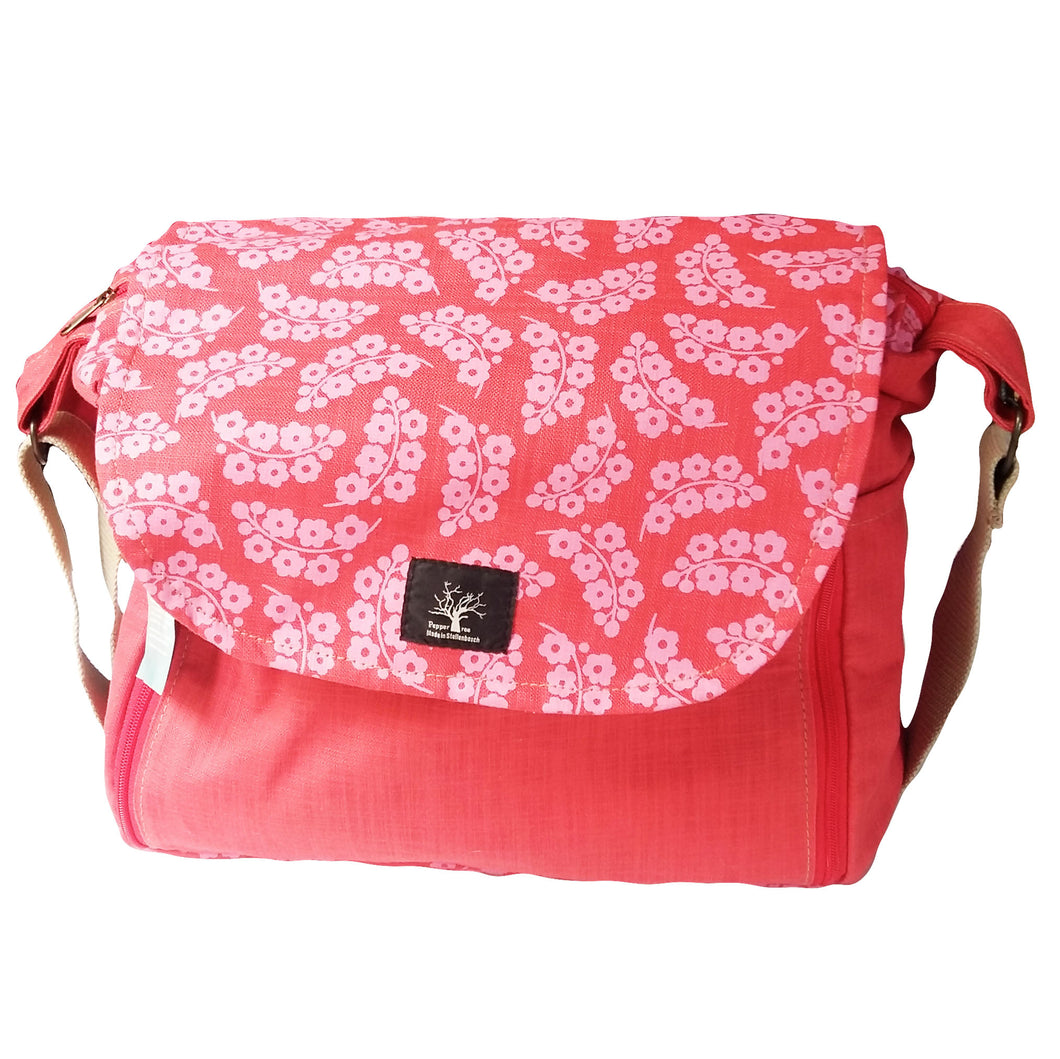 Baby Nappy Bag - Pink Cherry Blossom