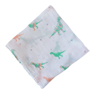Muslin Swaddle Blankets - Baby Dinosaurs