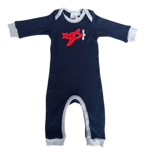 Babygrow - Navy Blue with Red Plane