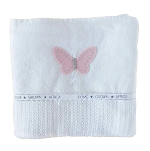 100% Woven Cotton Cellular Blankets - Butterfly