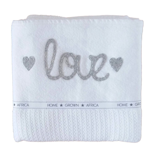 100% Woven Cotton Cellular Blankets - Love