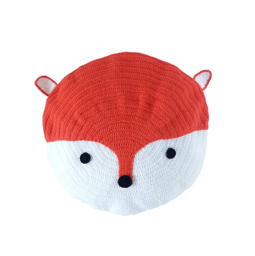 Crochet Cushion - Mr Fox