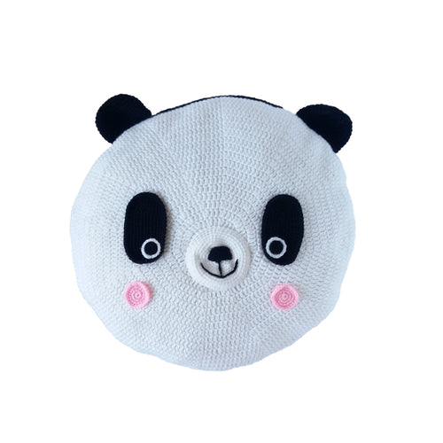 Crochet Cushion - Miss Panda