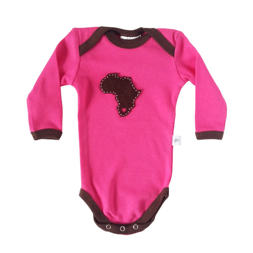 Babygrow - Pink with Africa