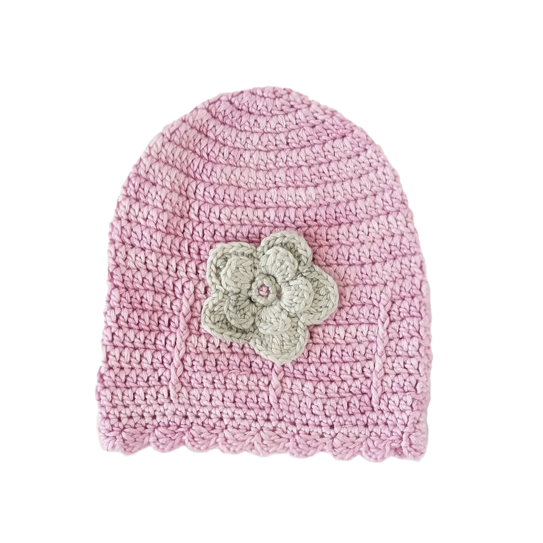 Beanie - 100% Cotton & Bamboo (Pink)