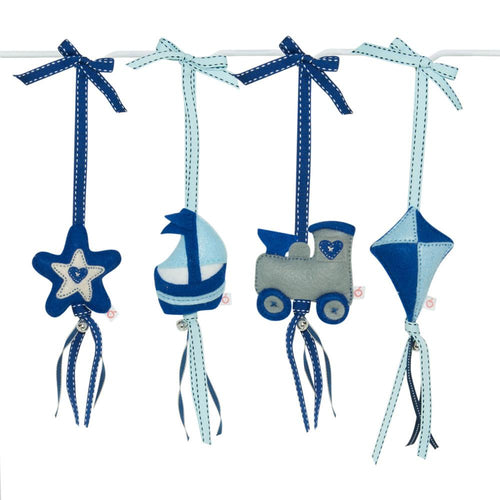 Sensory Mobile - Blue Train, Boat, Kite, Star
